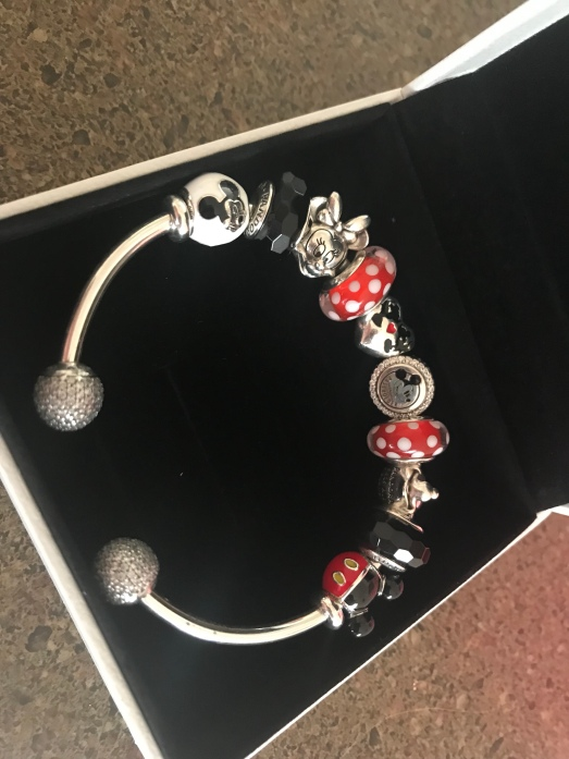 My Mickey and Minnie themed Pandora open bangle