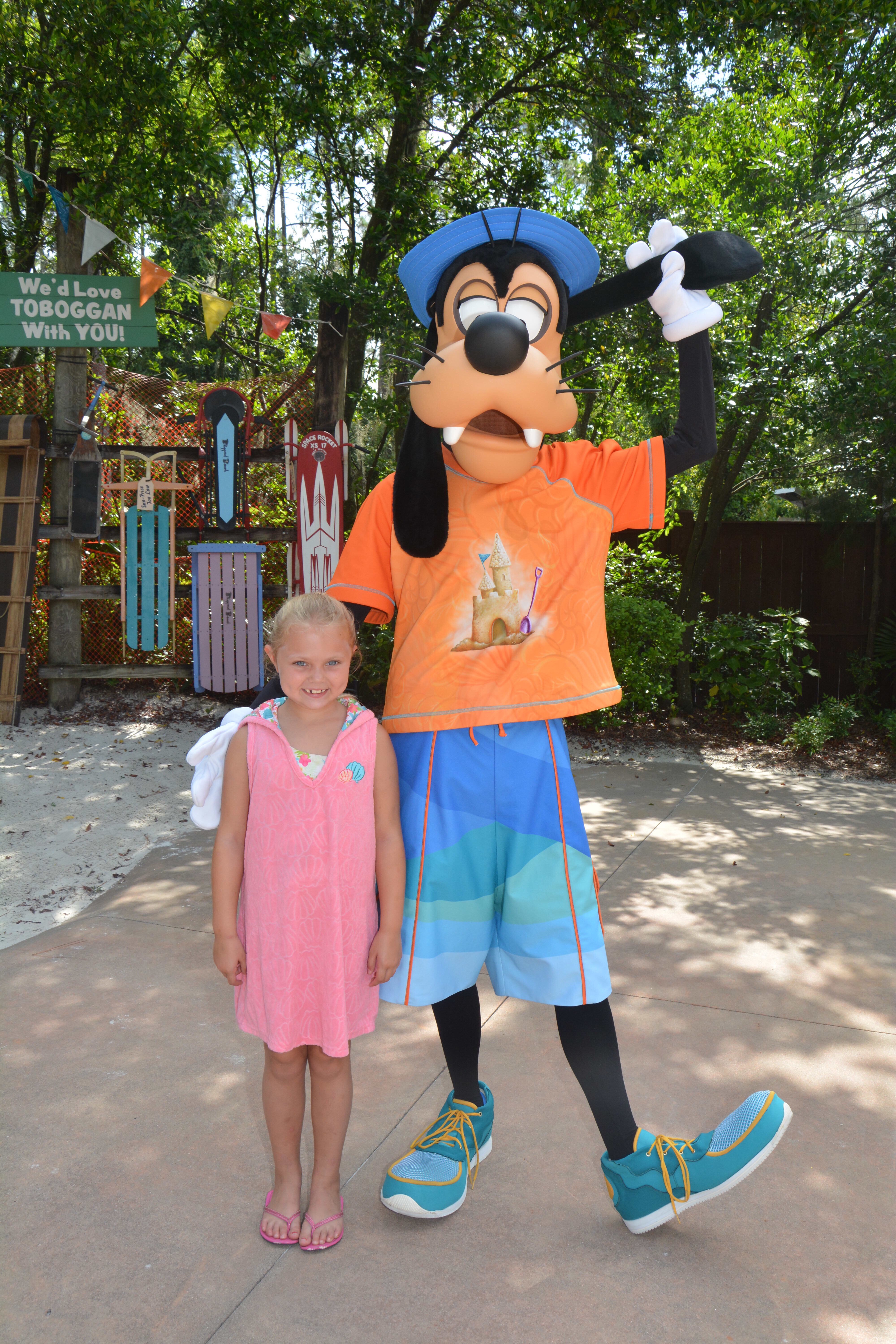 Delaney and Goofy hanging out
